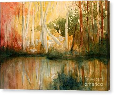 Yellow Medicine Creek 2 Canvas Print by Julie Lueders