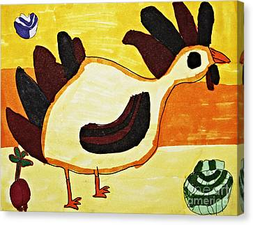 Yellow Rooster Still Canvas Print by Stephanie Ward
