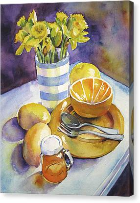 Yellow Still Life Canvas Print by Susan Herbst
