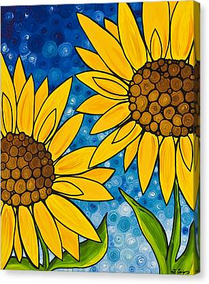 Yellow Sunflowers Canvas Print by Sharon Cummings