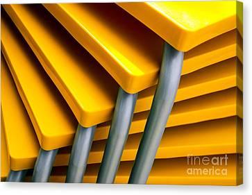 Yellow Tables Canvas Print by Carlos Caetano
