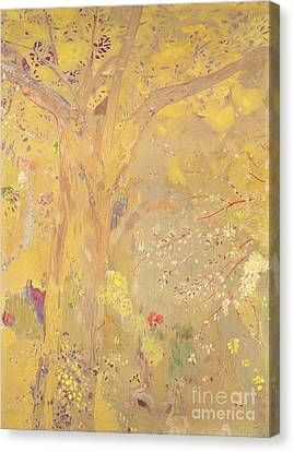 Yellow Tree Canvas Print by Odilon Redon