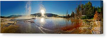 Yellowstone National Park - Minerva Terrace - Panorama Canvas Print by Gregory Dyer
