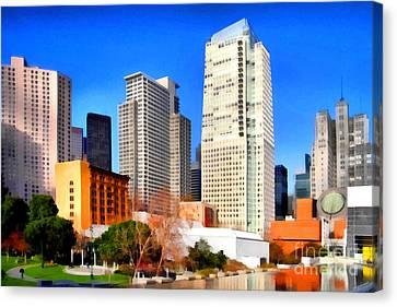 Yerba Buena Garden In San Francisco California . 7d4262 Canvas Print by Wingsdomain Art and Photography