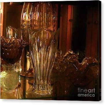 Yesturdays Glass Collection Canvas Print by Marsha Heiken
