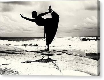 Yoga Balance Canvas Print by Stelios Kleanthous