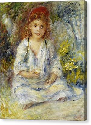 Young Algerian Girl Canvas Print by Pierre Auguste Renoir