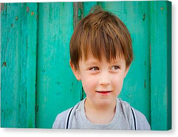 Young Child Canvas Print by Tom Gowanlock
