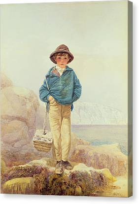 Young England - A Fisher Boy Canvas Print by Alfred Downing Fripp