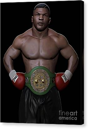 Young Mike Tyson Canvas Print by Douglas Petty