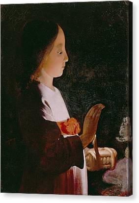 Young Virgin Mary Canvas Print by Georges de la Tour