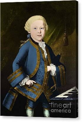 Young Wolfgang Amadeus Mozart, Austrian Canvas Print by Omikron