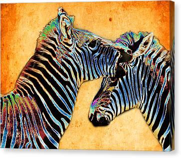 Zebra Tales Canvas Print by Barbara  White