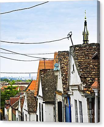 Zemun Rooftops In Belgrade Canvas Print by Elena Elisseeva
