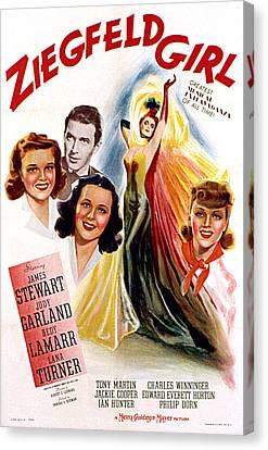 Ziegfeld Girl, Judy Garland, James Canvas Print by Everett