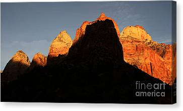 Zion The Great Wall Canvas Print by Bob Christopher