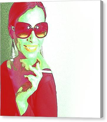 Zoe Canvas Print by Naxart Studio