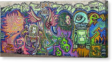 Zombie Monster Family Canvas Print by Travis Burns