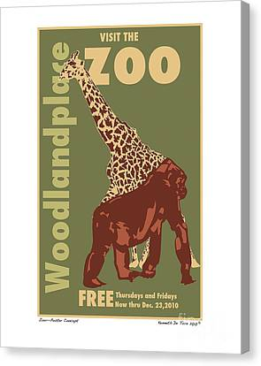 Zoo Poster Canvas Print by Kenneth De Tore
