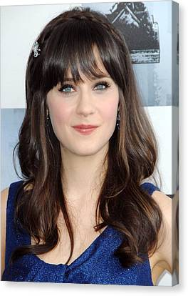 Zooey Deschanel At Arrivals For Film Canvas Print by Everett
