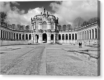 Zwinger Dresden Rampart Pavilion - Masterpiece Of Baroque Architecture Canvas Print by Christine Till