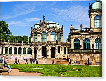 Zwinger Palace - Dresden Germany Canvas Print by Jon Berghoff