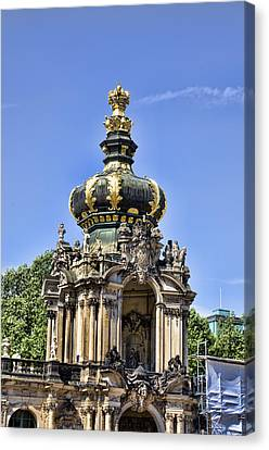 Zwinger Palace Crown Gate Canvas Print by Jon Berghoff