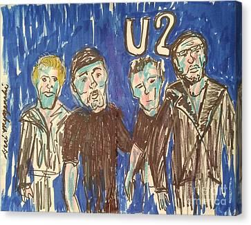 U2 Canvas Print by Geraldine Myszenski