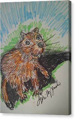 Groundhogs Day Canvas Print by Geraldine Myszenski