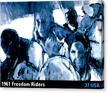 1961 Freedom Riders Canvas Print by Lanjee Chee