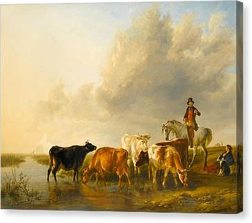 A Summer Evening Canvas Print by Thomas Sidney