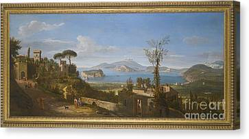A View Of The Bay Of Pozzuoli, Near Canvas Print by Gaspar van Wittel