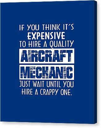 Aircraft Mechanic Canvas Print by Sophia