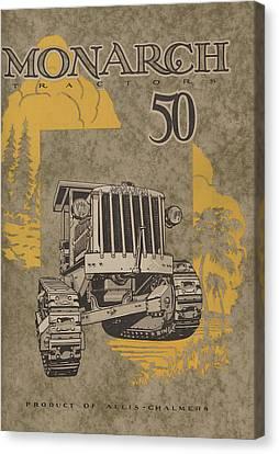Allis Chalmers Monarch Tractor Vintage Poster Canvas Print by American School