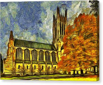 Cathedral Of St. John The Evangelist Canvas Print by Mark Kiver