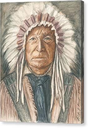 Chief Sitting Bear Canvas Print by Linda Nielsen