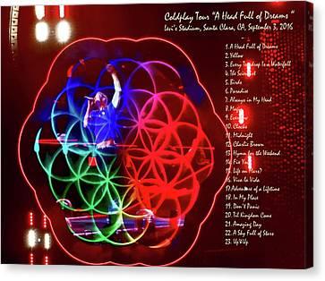 Coldplay - A Head Full Of Dreams Tour 2016 -  At Santa Clara Ca  Canvas Print by Tanya Filichkin