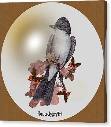 Eastern Kingbird Canvas Print by Madeline  Allen - SmudgeArt