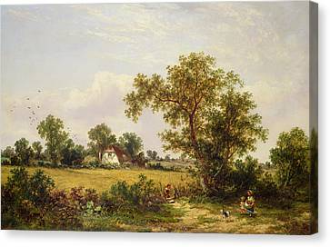 Essex Landscape  Canvas Print by James Edwin Meadows