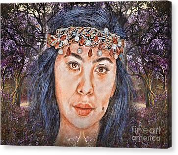Filipina Beauty, Kaye Anne Toribio.in A Mystical Forest II Canvas Print by Jim Fitzpatrick