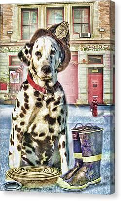 Firemans Friend Canvas Print by Trudi Simmonds