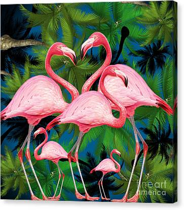 Flamingo Canvas Print by Mark Ashkenazi