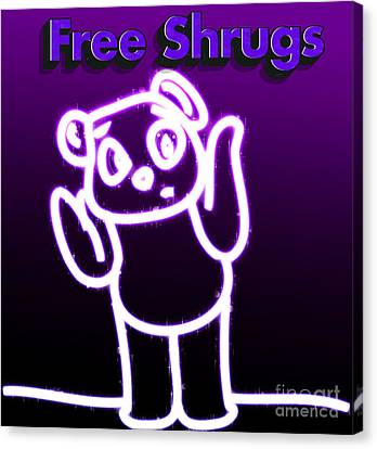 Free Shrugs  Canvas Print by Humorous Quotes
