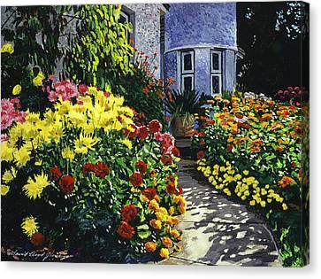 Garden Shadows Canvas Print by David Lloyd Glover