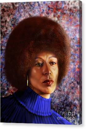 Impassable Me - Angela Davis1 Canvas Print by Reggie Duffie