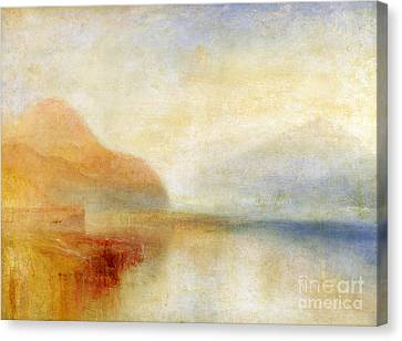 Inverary Pier - Loch Fyne - Morning Canvas Print by Joseph Mallord William Turner