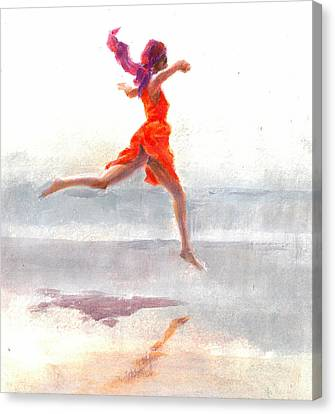 Juno On The Beach Canvas Print by Lincoln Seligman