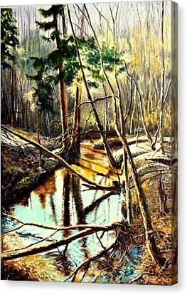 Lubianka-1- River Canvas Print by Henryk Gorecki