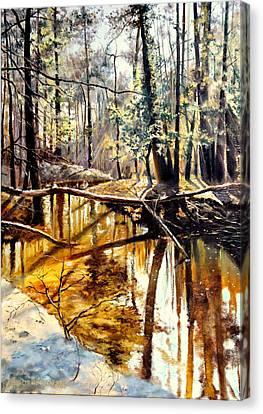 Lubianka-2-river Canvas Print by Henryk Gorecki
