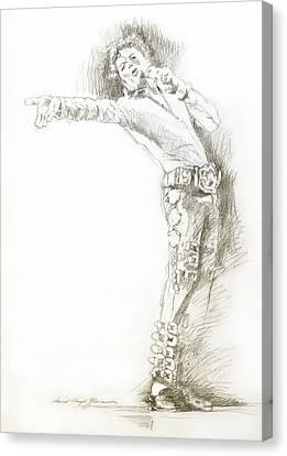 Michael Jackson Live Canvas Print by David Lloyd Glover